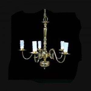 brass chandelier hire
